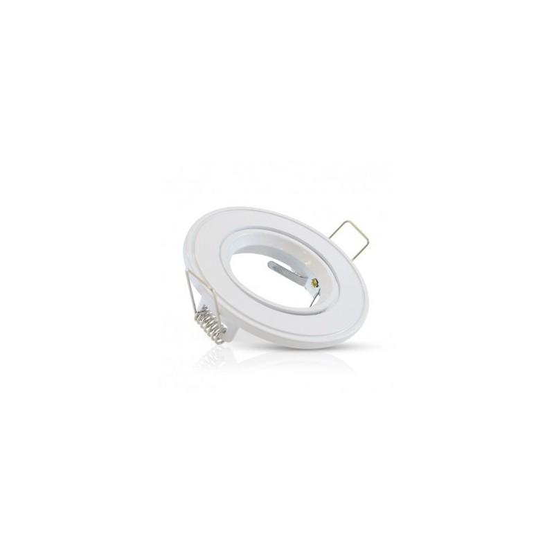 Support plafond rond orientable blanc Ø86mm VISION EL