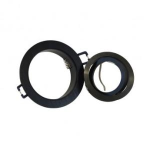 Support de spot rond aluminium orientable noir 92mm VISION EL