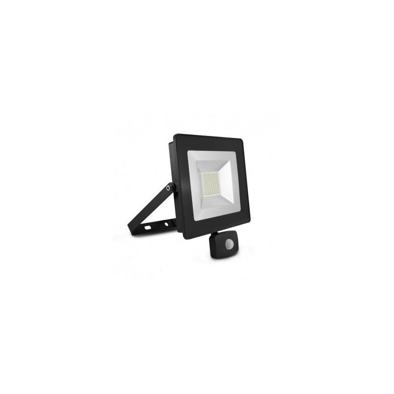 Projecteur extérieur LED plat 50W 6000°K + détecteur- Gris VISION EL