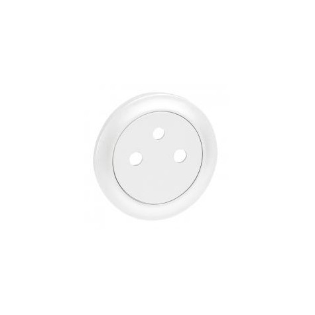Enjoliveur Céliane pour prise de courant 2P+T Surface - Blanc LEGRAND
