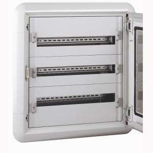 Coffret distribution XL³160 tout modulaire 3 rangées - 72 modules - encastré LEGRAND