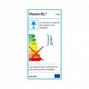 Plafonnier LED 12W 6000°K - Ø17cm - Blanc VISION EL