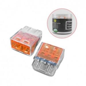 Connecteur rapide 3 fils rigides - Boite de 100 unités VISION EL
