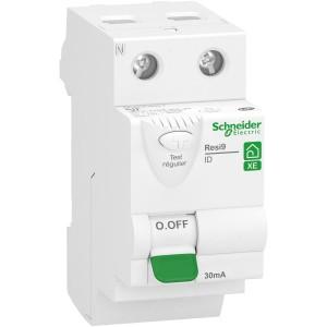 Interrupteur différentiel 63A 2P 30mA - Type AC - embrochable - Resi9 XE SCHNEIDER