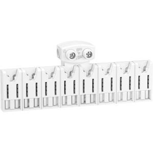 Répartiteur système embrochable - 8 modules - avec connecteur - Resi9 XE SCHNEIDER