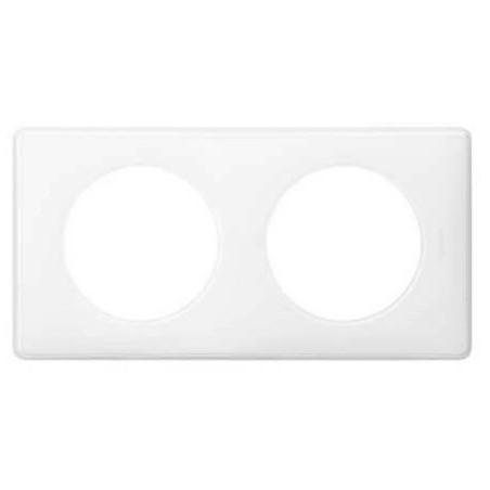 Plaque 2 postes Céliane - finition blanc laqué LEGRAND