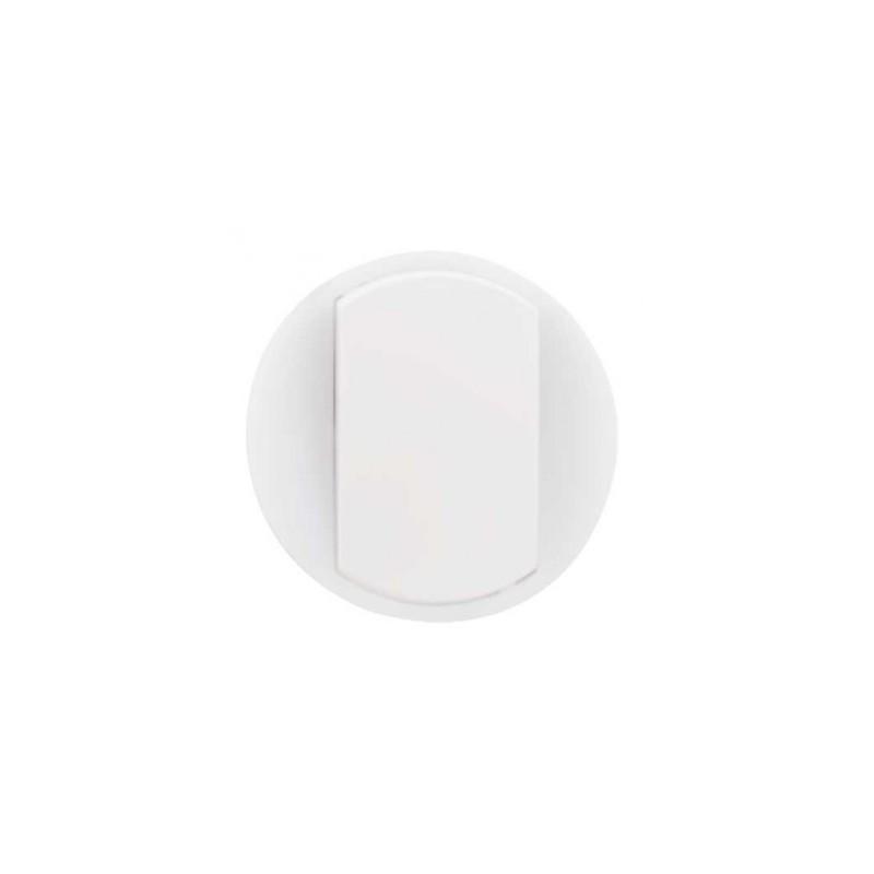 Enjoliveur large Céliane pour interrupteur, va-et-vient ou poussoir lumineux - Blanc LEGRAND
