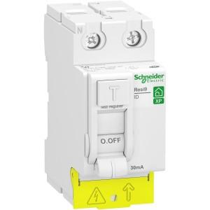 Interrupteur différentiel 2P - 63A - 30mA - Type A - peignable - alim bas - Resi9 XP SCHNEIDER