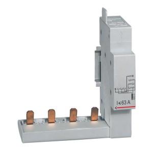 Module de raccordement par peigne pour DX³ , DX³-ID et DX³-IS - à borne automatique - 4P jusqu'à 63A - 1 module LEGRAND