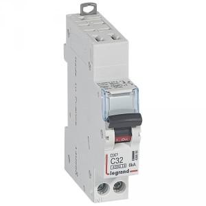 Disjoncteur 32A courbe C - 6kA - 1P+N 230V~ - 1 module - auto/vis - DNX³4500 LEGRAND