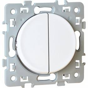 Double bouton poussoir SQUARE 1 poste - 10AX - 250V - Blanc EUR'OHM