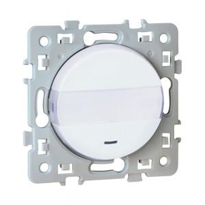 Bouton poussoir porte-étiquette SQUARE 1 poste - 10AX - 250V - Blanc EUR'OHM