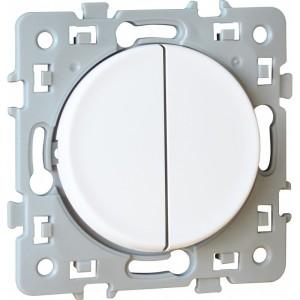 Va-et-vient + bouton poussoir SQUARE 1 poste - 10AX - 250V - Blanc EUR'OHM