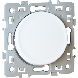 Bouton poussoir lumineux SQUARE 1 poste - 10AX - 250V - Blanc EUR'OHM