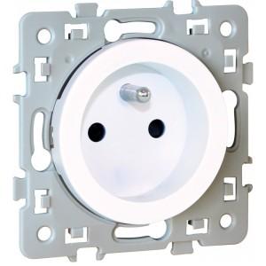 Prise de courant SQUARE 2P+T 1 poste - 16A - 250V - Blanc EUR'OHM