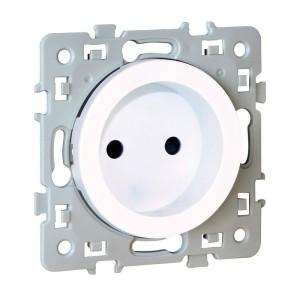 Prise de courant SQUARE 2P 1 poste - 16A - 250V - Blanc EUR'OHM