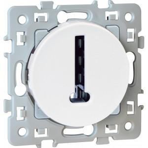 Prise téléphone en T SQUARE - 8 contacts - 250V - Blanc EUR'OHM