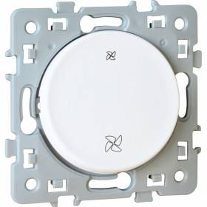 Interrupteur VMC 2 positions SQUARE 1 poste - 10AX - 250V - Blanc EUR'OHM