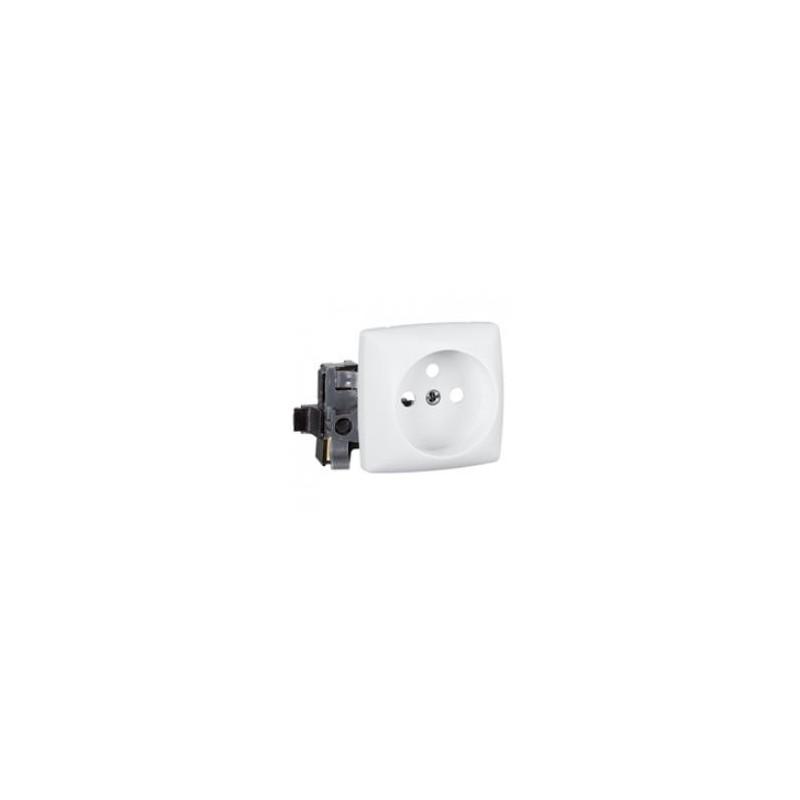 Prise 2P+T éclips appareillage saillie composable - bornes auto - blanc LEGRAND