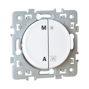 Interrupteur VMC SQUARE - 2 vitesses - Blanc EUR'OHM