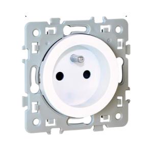 Prise de courant SQUARE 2P+T à griffes - 16A - blanc EUR'OHM