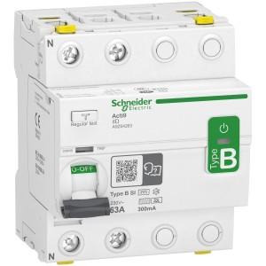 Interrupteur différentiel Acti9 - 2P - 63A - 300mA - type B - SI - 400V SCHNEIDER