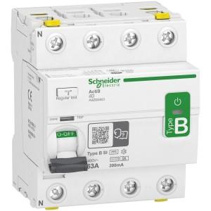 Interrupteur différentiel Acti9 - 4P - 63A - 300mA - type B - SI - 400V SCHNEIDER