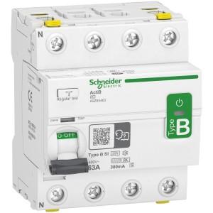 Interrupteur différentiel Acti9 - 4P - 63A - 300mA [s] - type B - SI - 400V SCHNEIDER