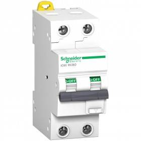 Disjoncteur differentiel Acti9 iC60 RCBO - 2P - 20A - 30mA - C -10kA - type Asi SCHNEIDER