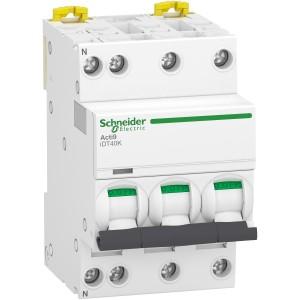 Disjoncteur 40A courbe C - 3P+N - 4500A/4,5kA - Acti9 iDT40K SCHNEIDER