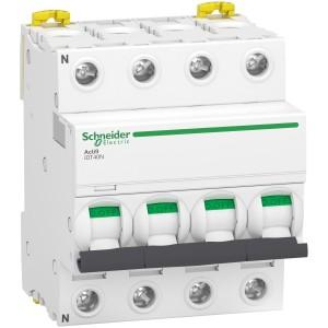 Disjoncteur Acti9 iDT40N - 4P - 40A - courbe C - 6000A/10kA SCHNEIDER