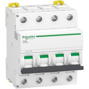 Disjoncteur Acti9 iDT40N - 4P - 40A - courbe C - 10000A/15kA SCHNEIDER