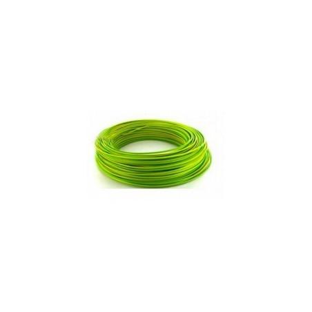 Fil HO7VU 1x2.5mm² Vert/Jaune en couronne de 100ml NEXANS