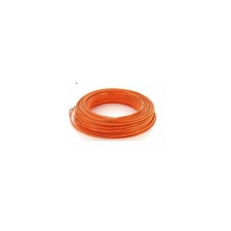 Fil HO7VU 1x2.5mm² Orange en couronne de 100ml NEXANS