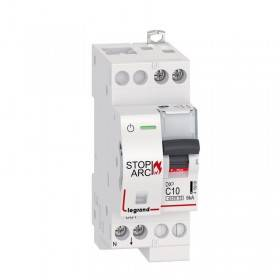 Disjoncteur DX³ STOP ARC 4500 - 6kA - 1P+N 230V~ 10A - courbe C - 2 modules - vis/vis LEGRAND
