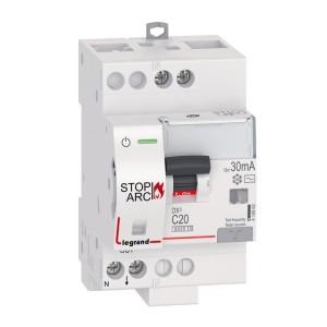 Disjoncteur différentiel DX³ STOP ARC 6000 - 1P+N 230V~ - 20A typeAC 30mA - courbe C - 3 modules LEGRAND
