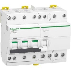 Disjoncteur différentiel iDD40N - 3P+N - 40A - 10 kA - courbe C - 300mA - type AC SCHNEIDER