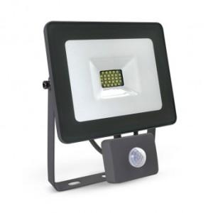 Projecteur extérieur LED plat 20W 3000°K + détecteur - Gris VISION EL