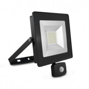 Projecteur extérieur LED plat 50W 3000°K + détecteur - Gris VISION EL