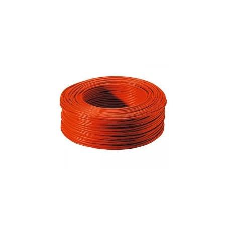 Fil HO7VR 1x10mm² Rouge en couronne de 100ml NEXANS