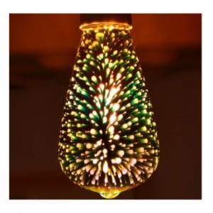 Ampoule LED E27 ST64 3W 3D VISION EL