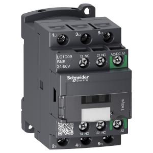 Contacteur - 3P (3 NO) - AC3 - 440V 9A - 24 à 60Vca-cc - TeSys D - LC1D09BNE SCHNEIDER