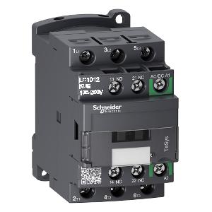 Contacteur - 3P (3 NO) - AC3 - 440V 12A - 24 à 60Vca-cc - TeSys D - LC1D12BNE SCHNEIDER