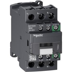 Contacteur - 3P(3 NO) - AC3 - 440V 25A - 24 à 60Vca-cc - TeSys LC1D25BNE SCHNEIDER