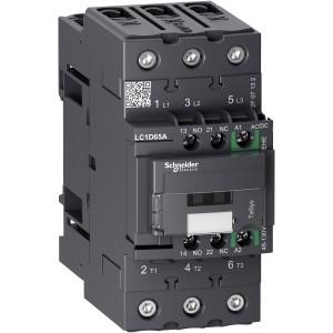 Contacteur - 3P(3NO) - AC3 - 440V 65A - 48 à 130Vca-cc - Everlink - TeSys LC1D65AEHE SCHNEIDER