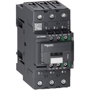 Contacteur 3P (3 NO) - AC3 - 440V 80A - 24Vcc - Everlink- TeSys LC1D80ABBE SCHNEIDER