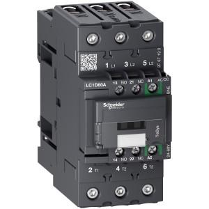 Contacteur 3P (3 NO) - AC3 - 440V 80A - 24 à 60Vca-cc - Everlink - TeSys LC1D80ABNE SCHNEIDER