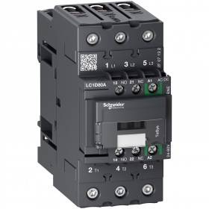 Contacteur - 3P(3 NO) - AC3 - 440V 80A - 24 à 60Vca-cc - Everlink - TeSys LC1D80ABNE SCHNEIDER