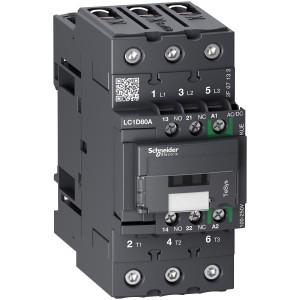Contacteur - 3P(3 NO) - AC3 - 440V 80A - 100 à 250Vca-cc - Everlink - TeSys LC1D80AKUE SCHNEIDER