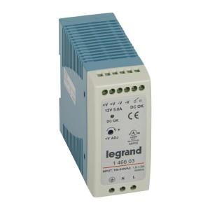 Alimentation stabilisée à découpage mono 60W - entrée 100V~ à 240V~ et sortie 12V LEGRAND